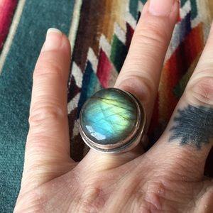 Badass Vintage Labradorite Ring!